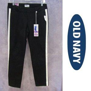 Old Navy Pants - 🆕The Diva Tuxedo Pant Black w/White Stripe Women's